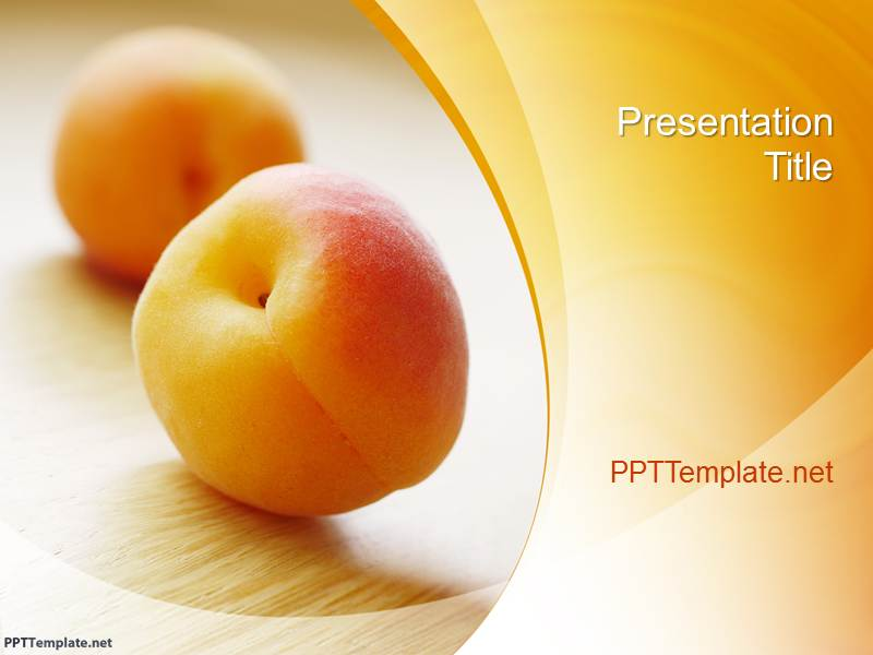 Free Peach PPT Template