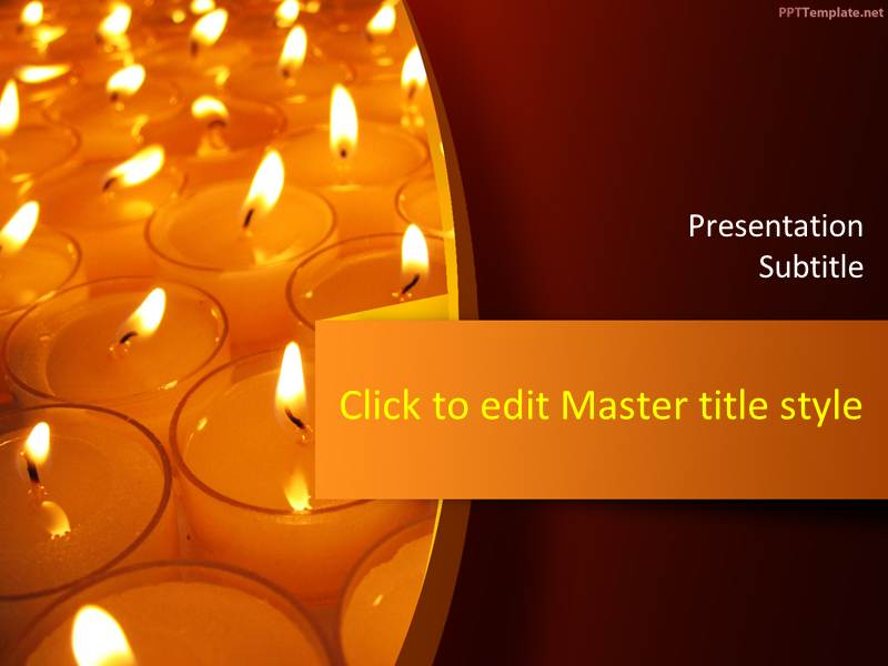 Free Candles PPT Template