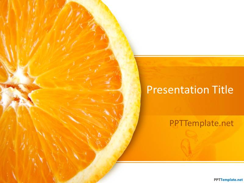 Making History With Vitamin C Powerpoint: Free Orange PPT Template