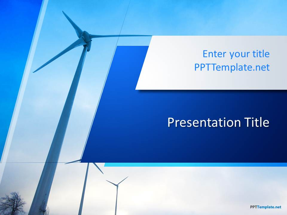Free Wind Energy PPT Template