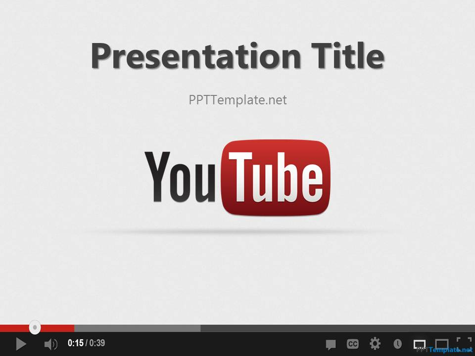 Free Youtube PPT Template