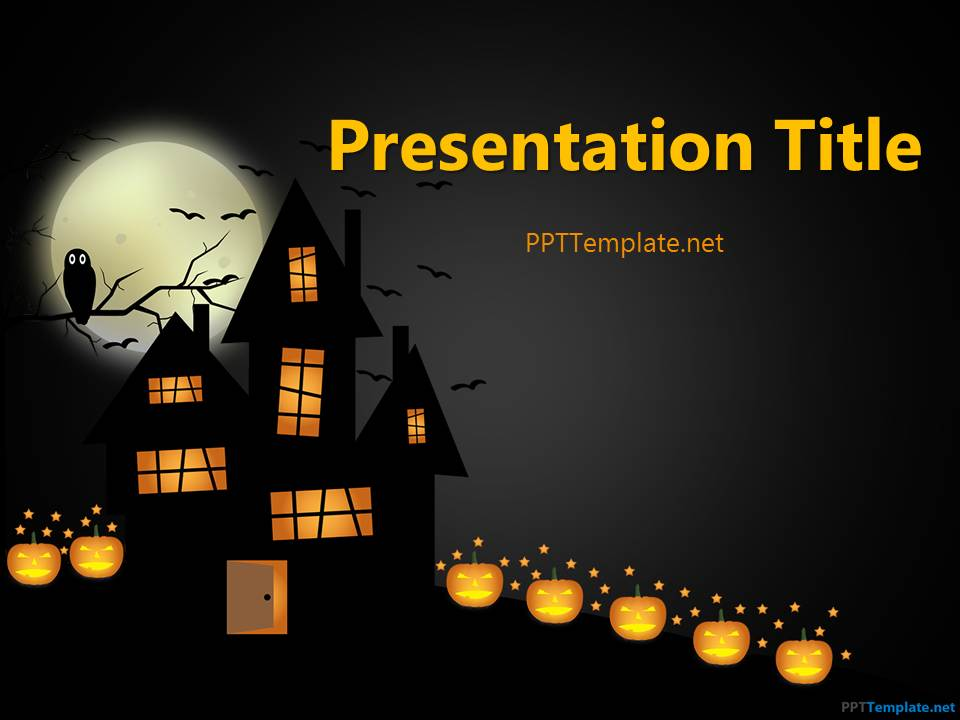 Free Dark Halloween PPT Template