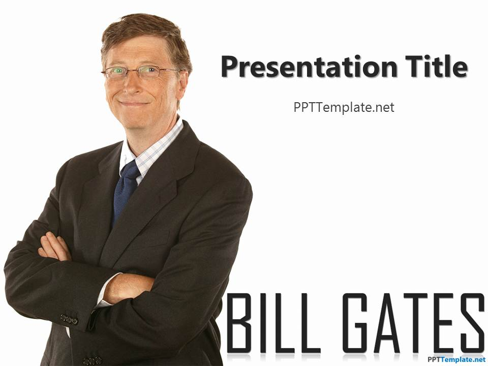 Free Bill Gates PPT Template