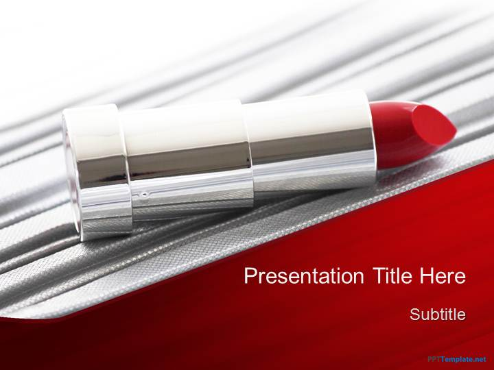 Free Lipstick PPT Template