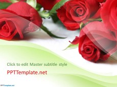 Free Flower PowerPoint Template with Roses