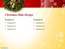 Internal slide design for Christmas PowerPoint presentations