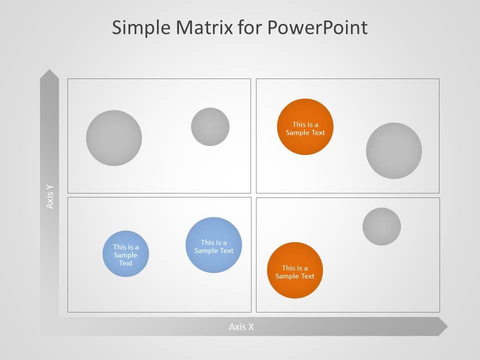 Free Matrix PowerPoint Template