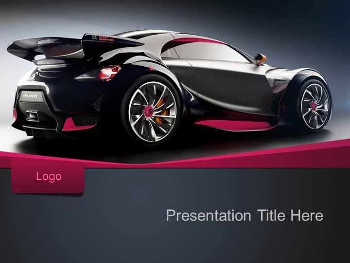 car wrap templates free download - free sport car ppt template