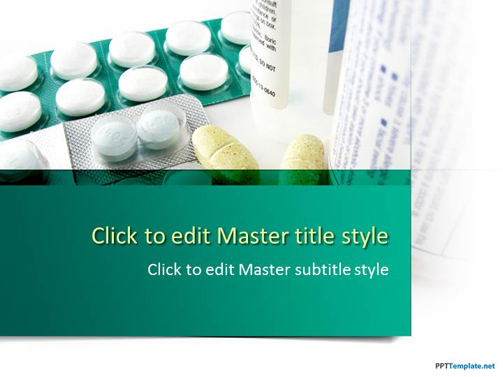 Free Medicine Tablets PPT Template