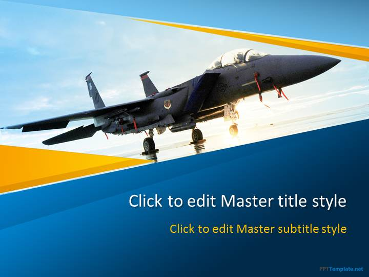 Free War Jet PPT Template