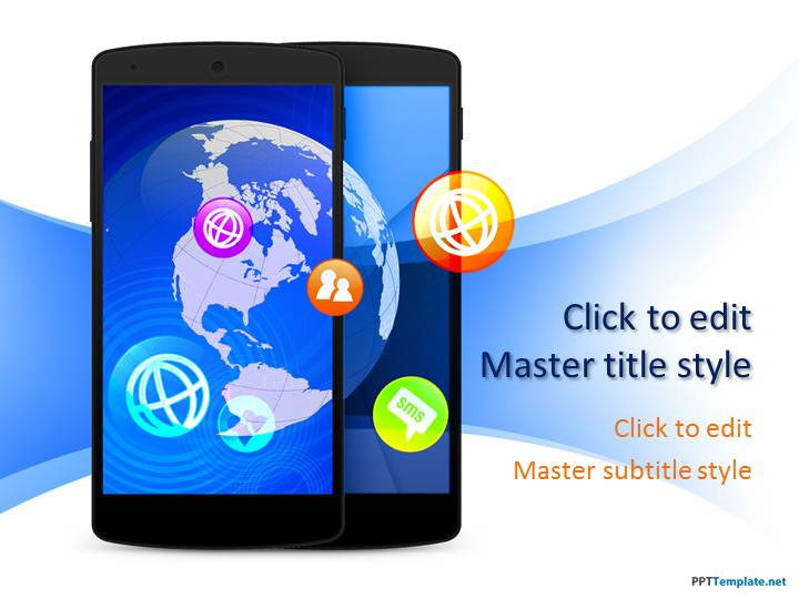 Free Smartphone PPT Template