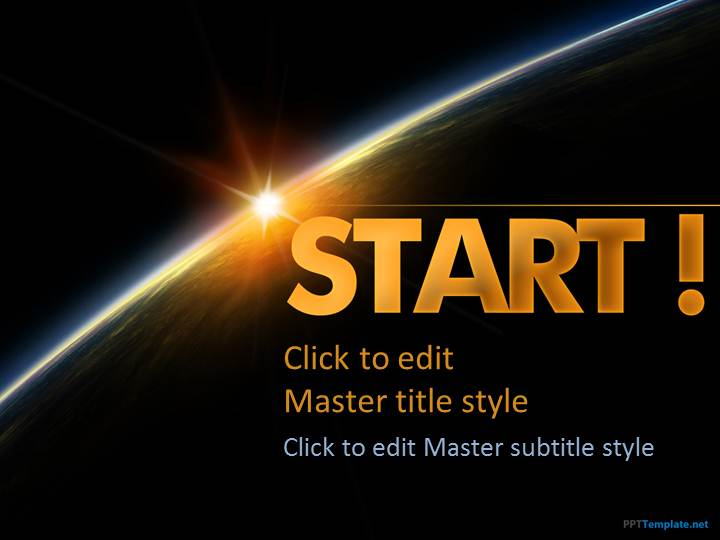 Free Dark Start PPT Template