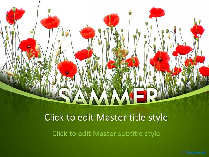 Free Sammer Poppy PPT Template
