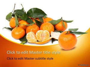 Free Tangerines PPT Template
