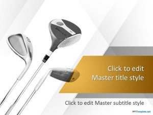 Free Golf Clubs PPT Template