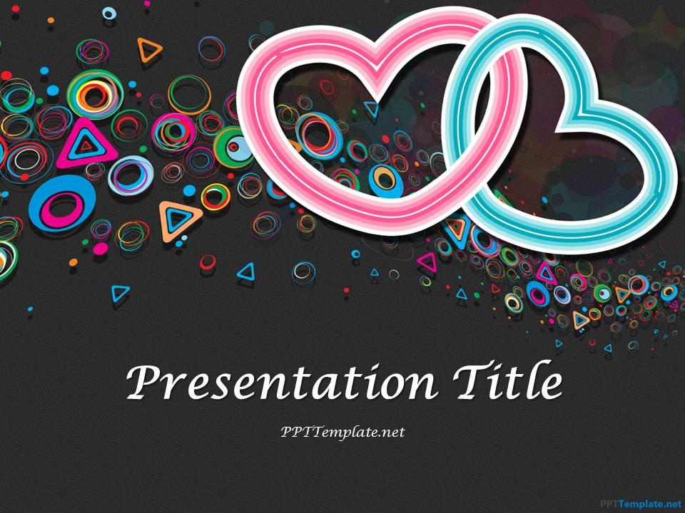 Free Dark Valentines PowerPoint Template