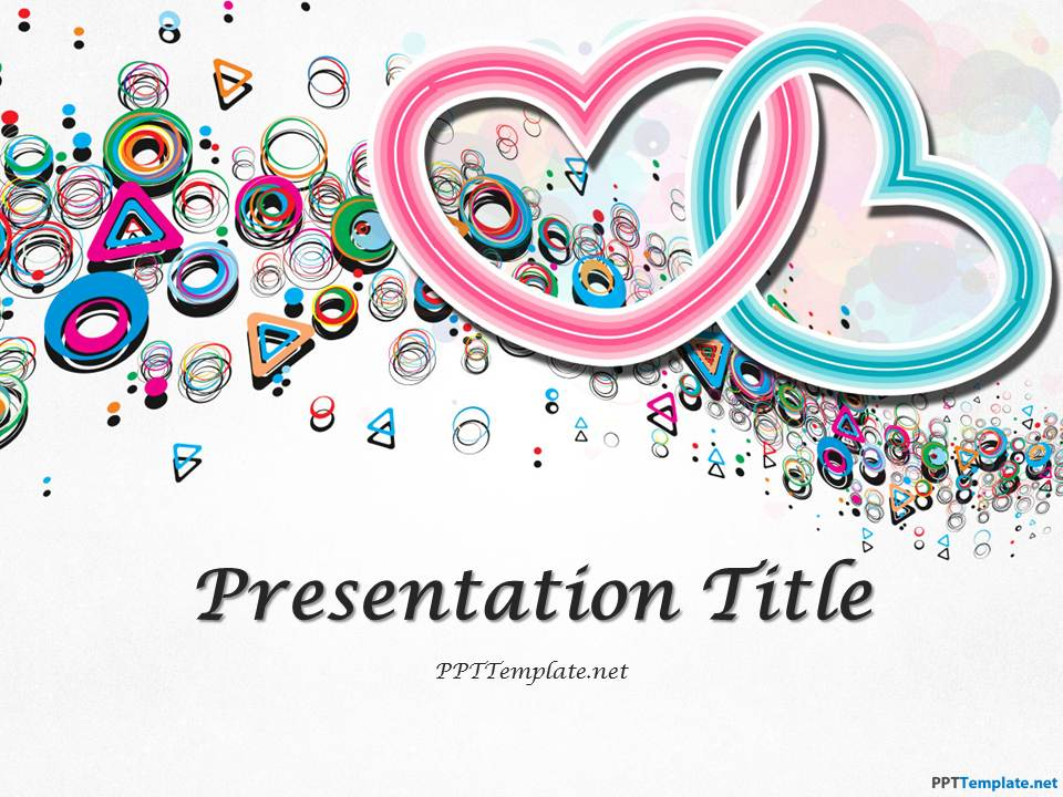 Free Abstract Valentine's Day Template for PowerPoint