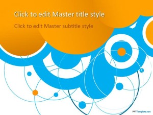 Free Blue Circles PPT Template