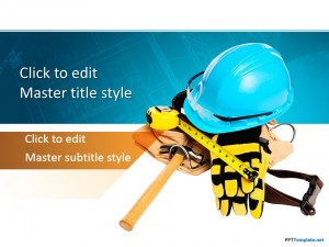 Free Construction Worker PPT Template