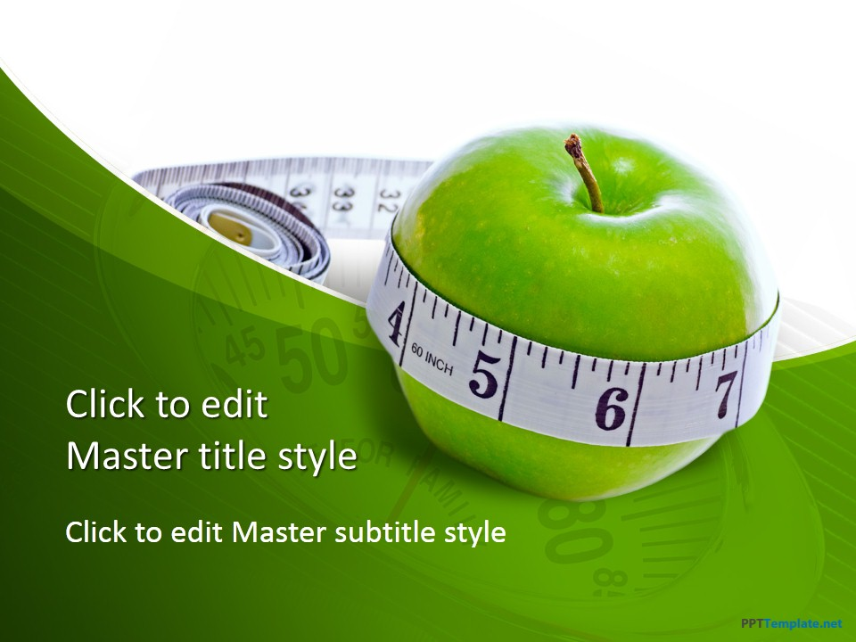 Free Diet Measure Apple PPT Template