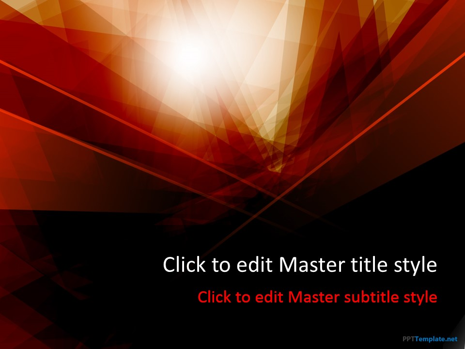 Free Dark Red PPT Template