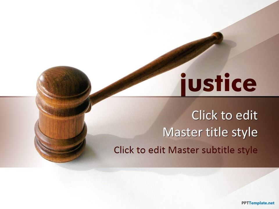 Free Justice PPT Template