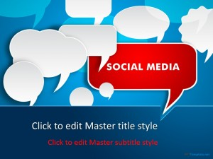Free Social Media Discussion PPT Template