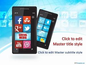 Free Social Media Windows Phone PPT Template