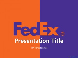 Free Fedex With Logo PPT Template