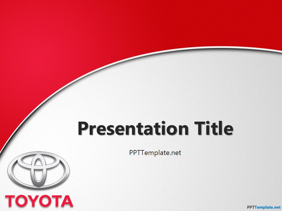 Free Toyota With Logo PPT Template