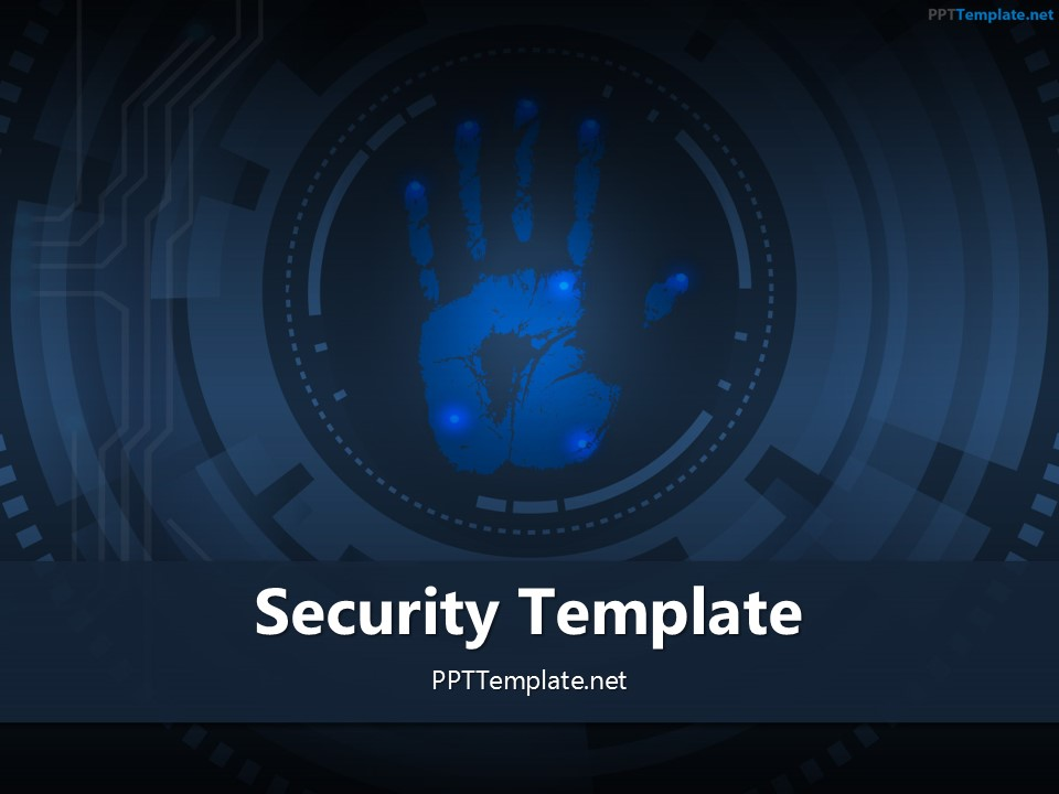 Free Palm Print 3 PPT Template