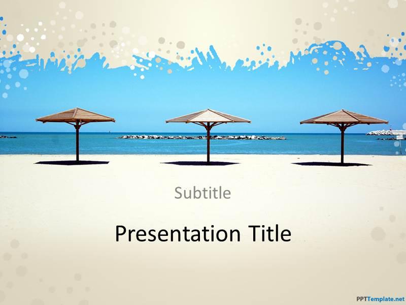 free beach ppt template