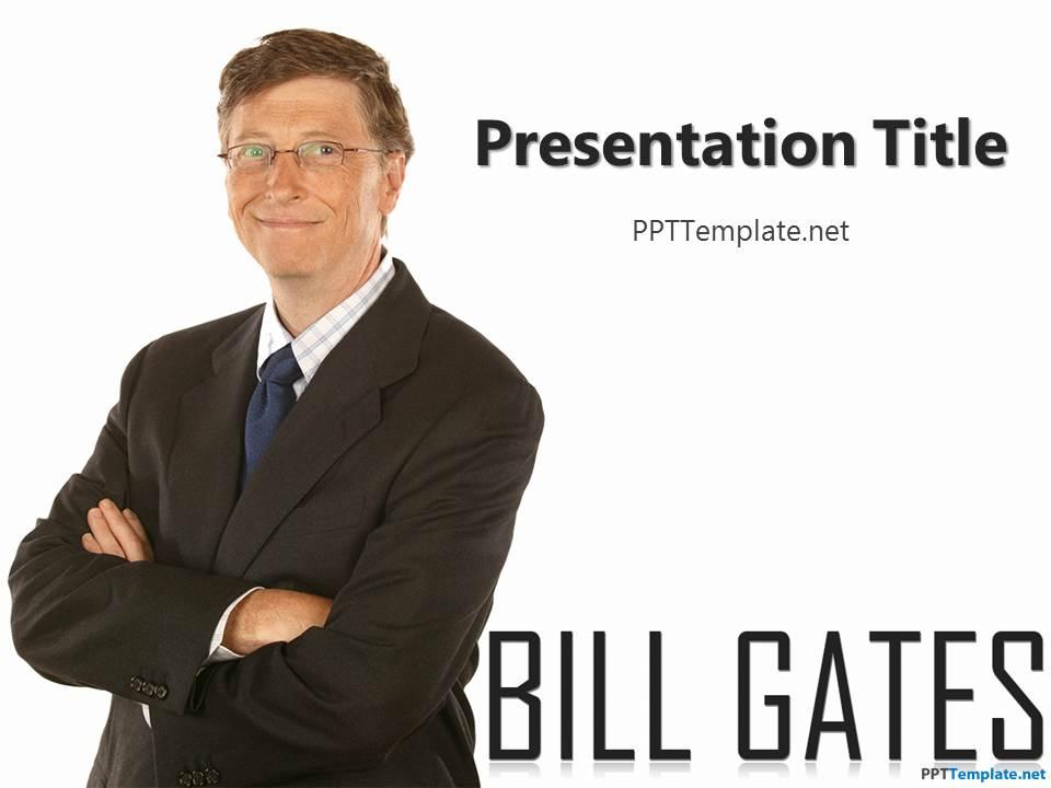 free bill gates ppt template