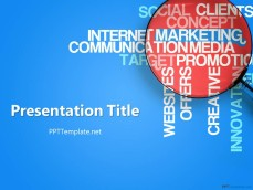 free market research ppt templates - ppt template, Powerpoint templates