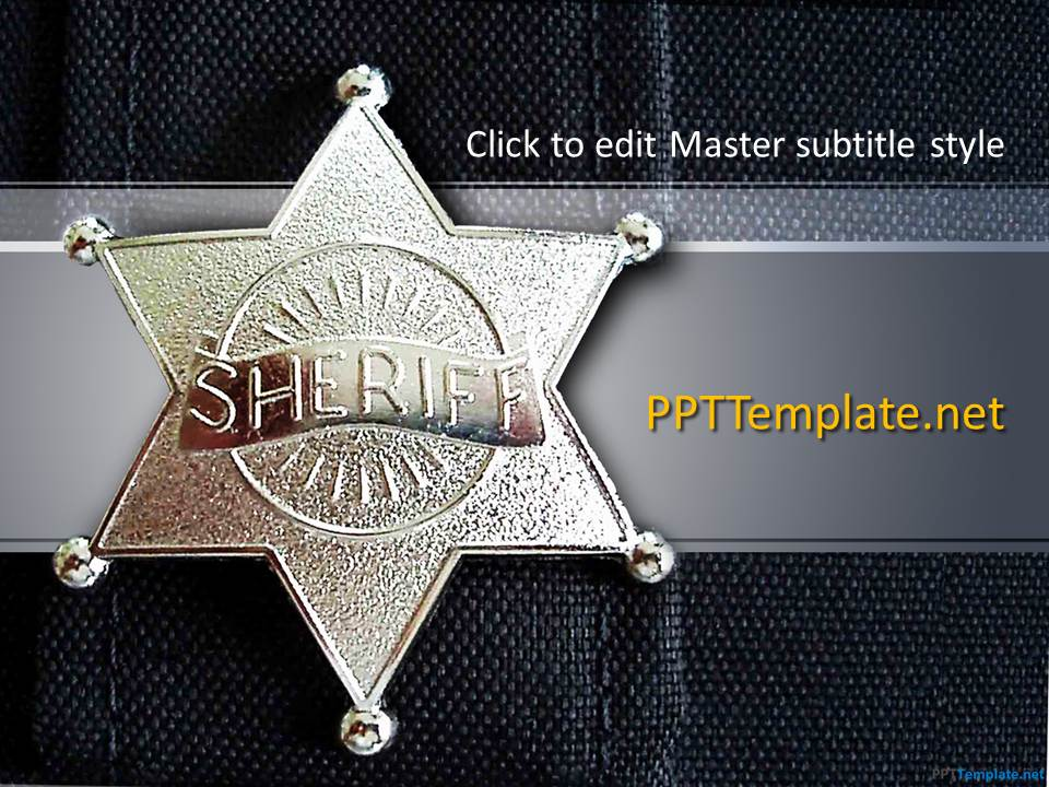 Free security ppt templates ppt template free sheriff ppt template toneelgroepblik Image collections