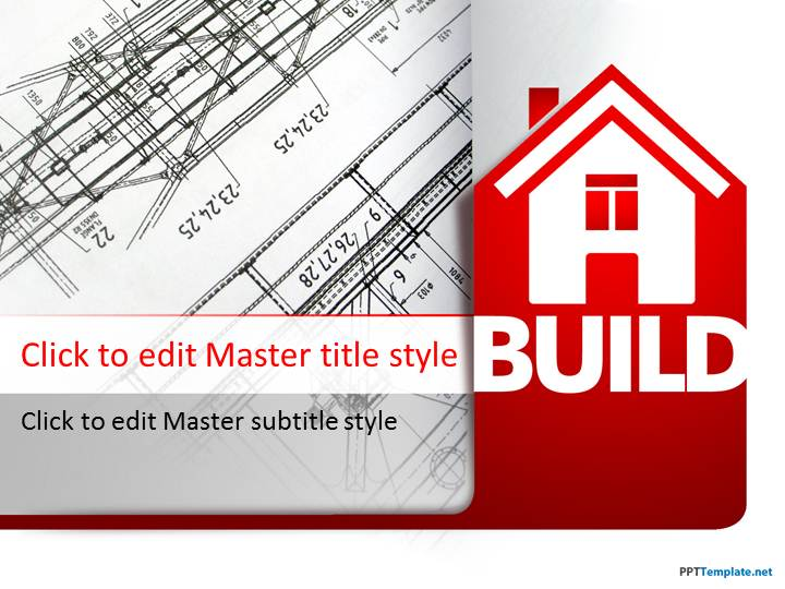 Free house building ppt template toneelgroepblik Choice Image
