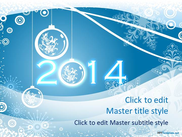 free winter 2014 ppt template, Powerpoint templates