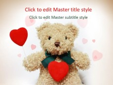Free romantic ppt templates ppt template free love bear ppt template toneelgroepblik Image collections