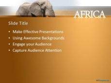 Free african elephant ppt template 10195 elephant africa ppt template 0001 2 toneelgroepblik Choice Image