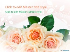 Free romantic ppt templates ppt template free roses ppt template toneelgroepblik Image collections