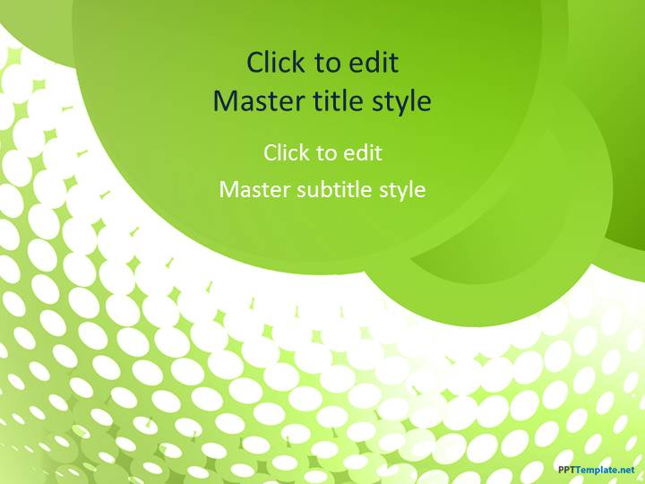 free green groove ppt template, Powerpoint templates