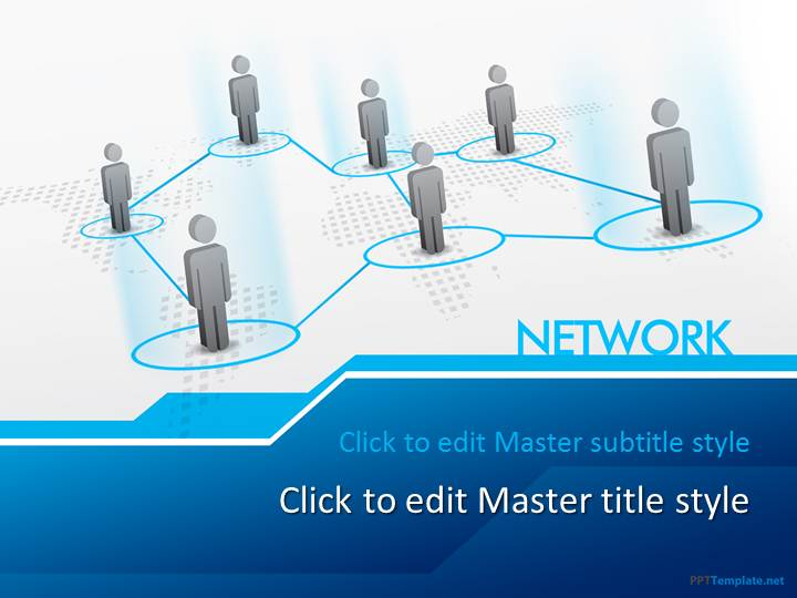 Super Free Network PPT Template IS82