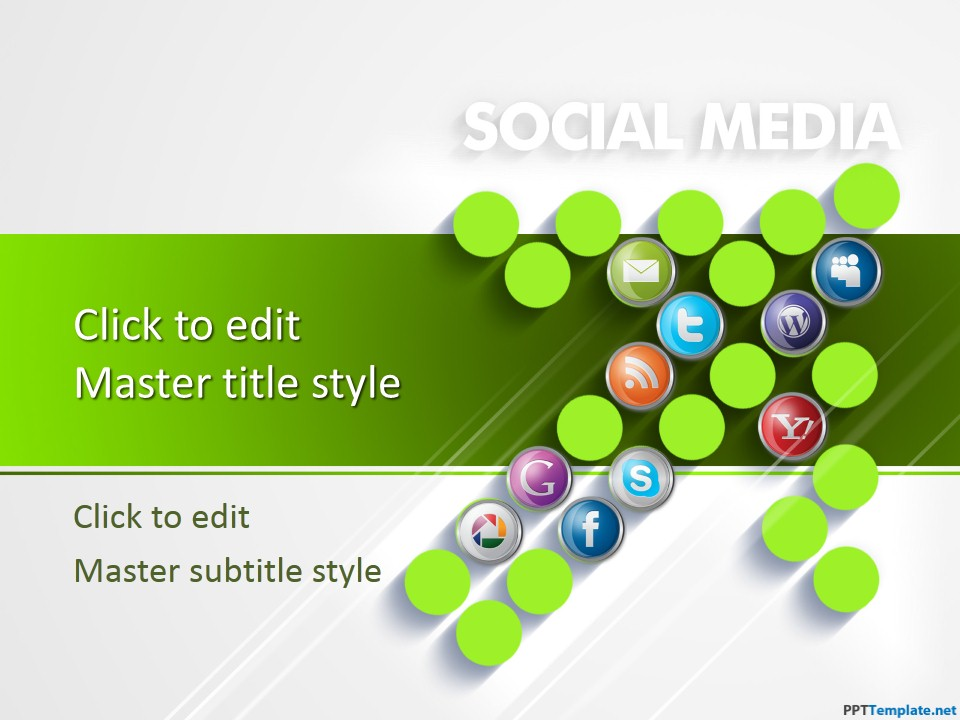 Free social media digital marketing ppt template toneelgroepblik Gallery