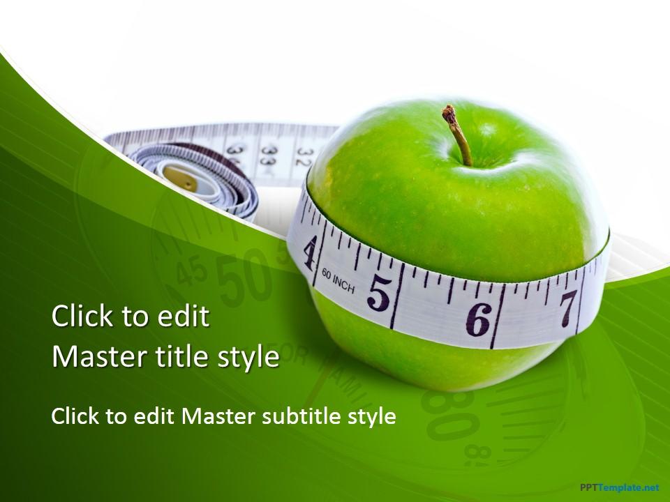 Free diet measure apple ppt template toneelgroepblik Gallery