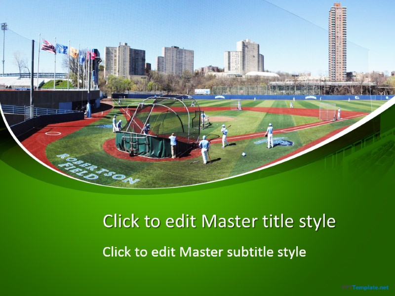 Free baseball field ppt template toneelgroepblik Image collections