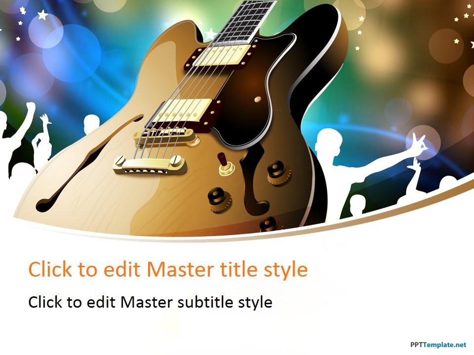 Free saxophone ppt template free guitar performance ppt template toneelgroepblik Choice Image