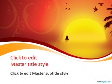Free beautiful ppt templates ppt template 10365 sunset ppt template 0001 1 toneelgroepblik Choice Image