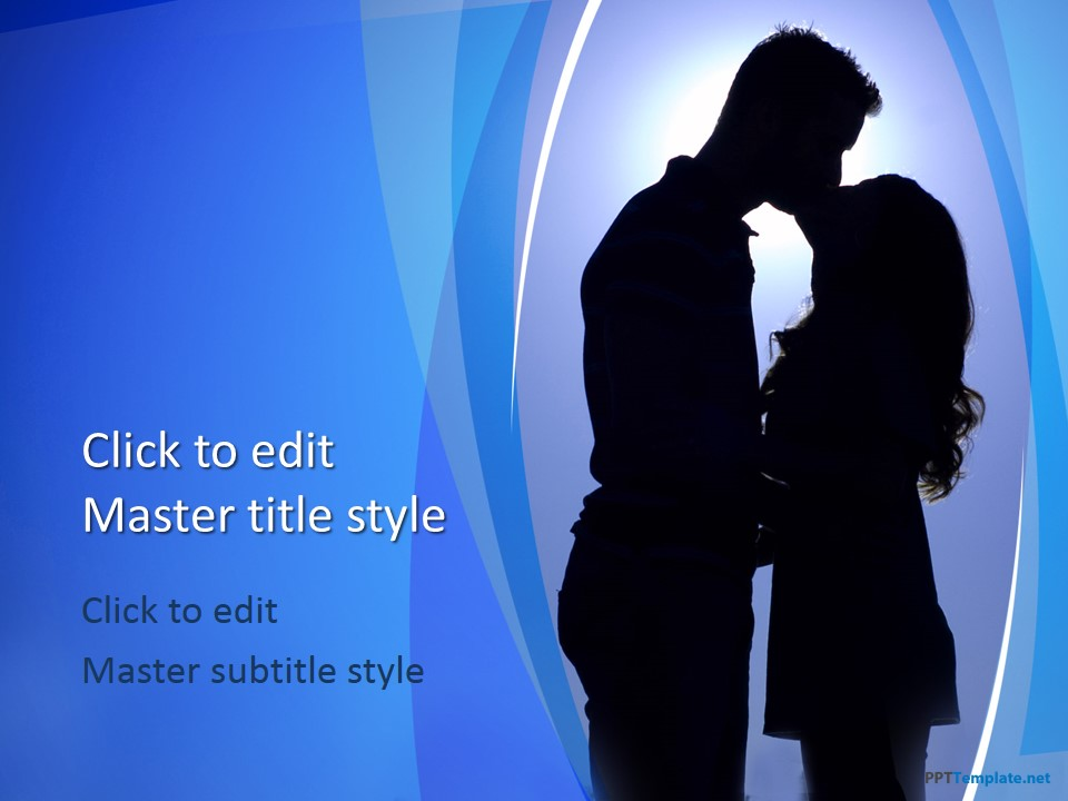 Free romantic ppt templates ppt template 10371 kiss ppt template 0001 1 toneelgroepblik Image collections