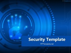 Free security ppt templates ppt template 20410 palm print 1 ppt template 1 free security toneelgroepblik Image collections