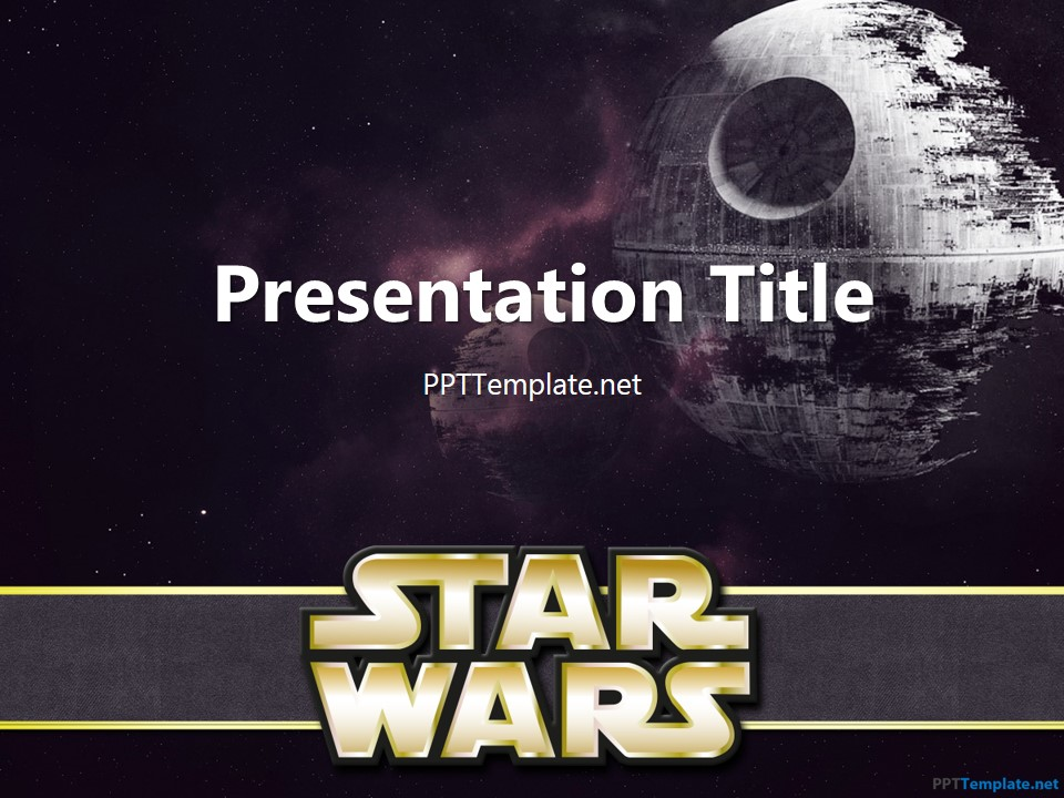 Free star wars with logo ppt template toneelgroepblik Choice Image